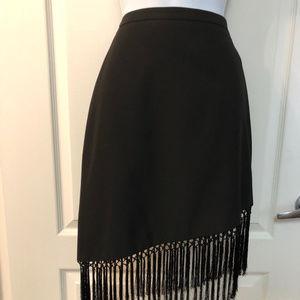 BCBG Black Fringe Skirt - so flirty - Women size 0